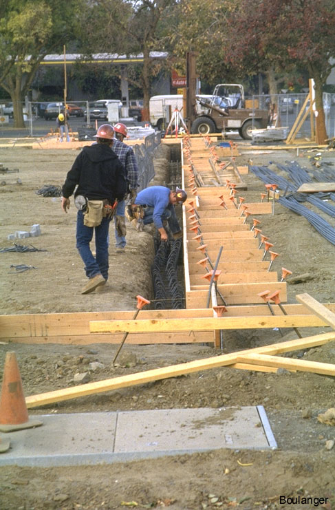 Grade beams for small cidh piles geotechnical photo album for Wood piling foundation