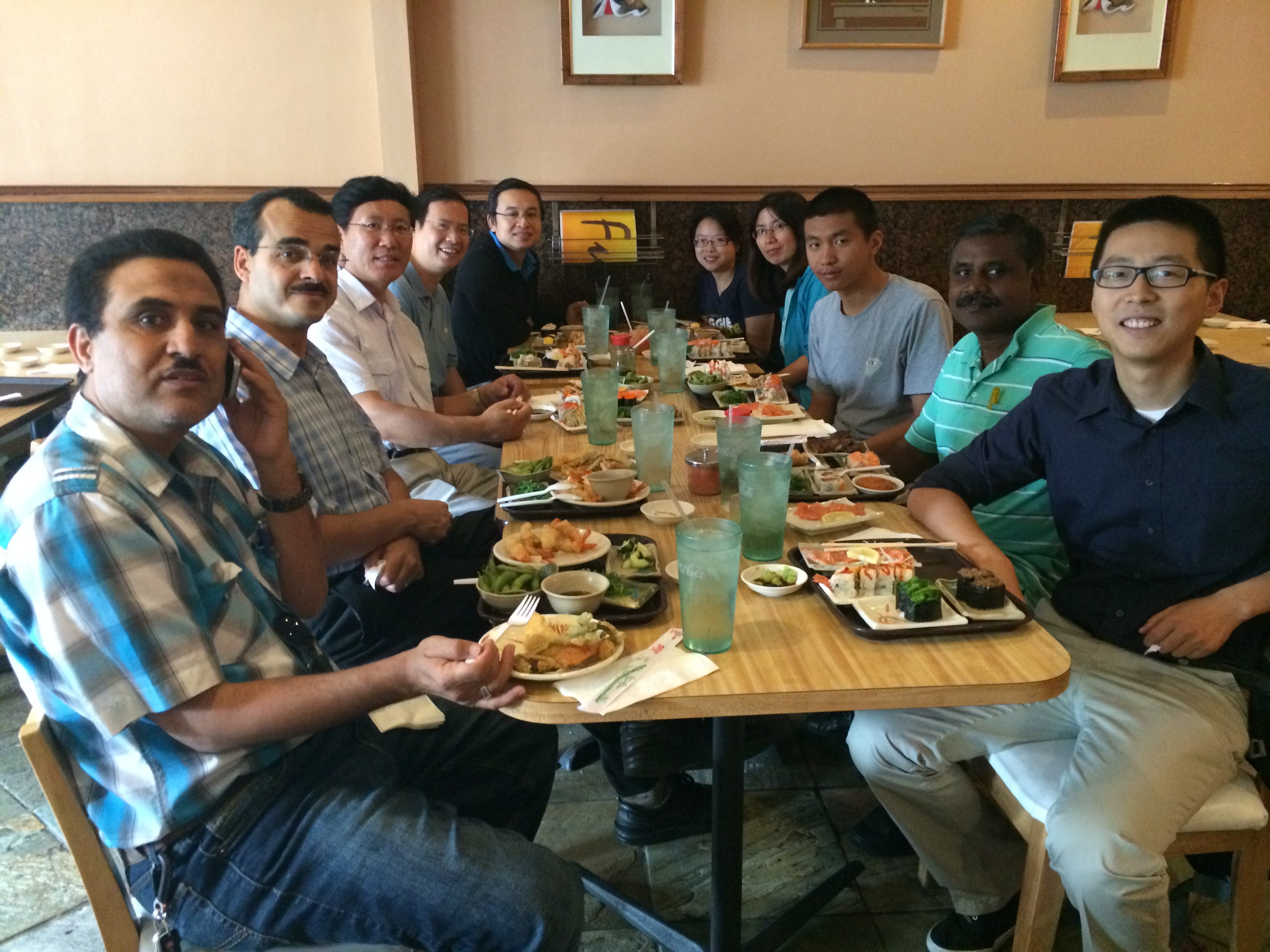 Kevin's Farewall Lunch, August 2014